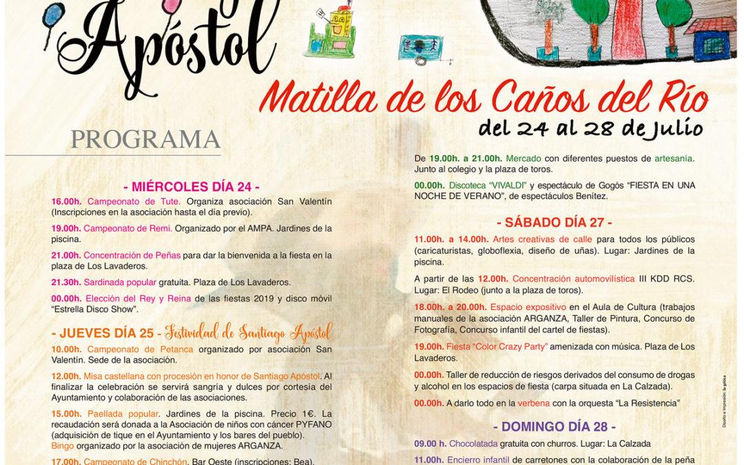 Fiestas Santiago Apostol 2019 Matilla de los Caños del Río